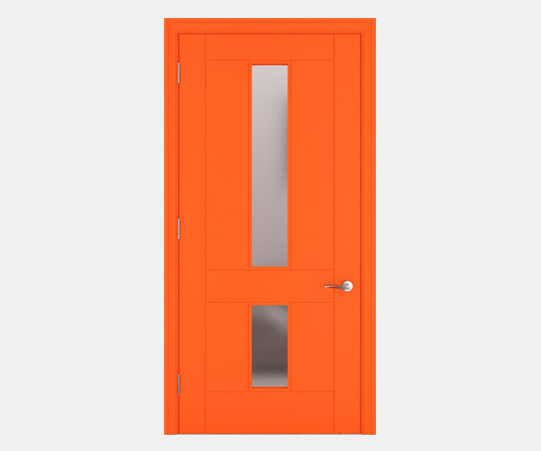 Shadbolt_Hatfield_lacquered_panelled_doors_with_glass_Orange_RAL_2005