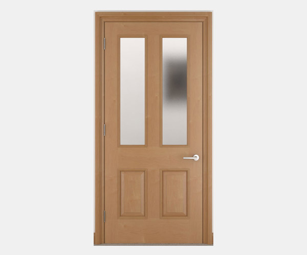 Shadbolt_Symonds_veneered_panelled_doors_with_etched_glass_CC_Canadian_Maple