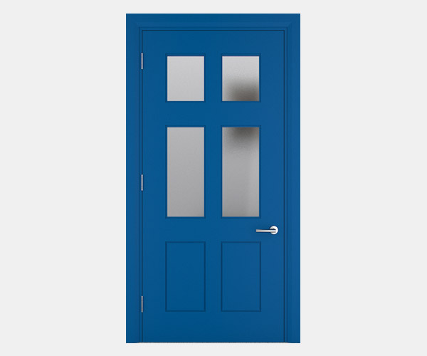 Shadbolt_Worth_lacquered_panelled_doors_with_glass_Blue_RAL_5005