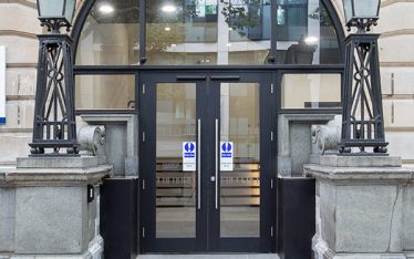 Shadbolt double doors with automatic operation at the Dyson Building Imperial College London