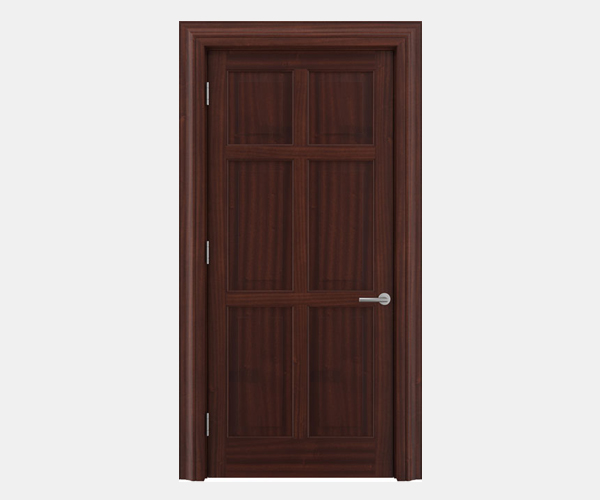 Shadbolt Timeless Type14 hardwood panelled door in Sapele Mahogany veneer