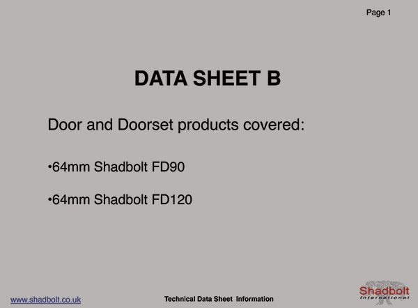 Doorset-Datasheet-B